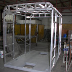 Roam MicroWay car prototype cabin under construction.
