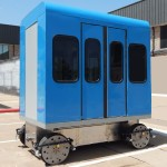 Roam Transport MicroWay mass transit cabin on chassis. MegaRail