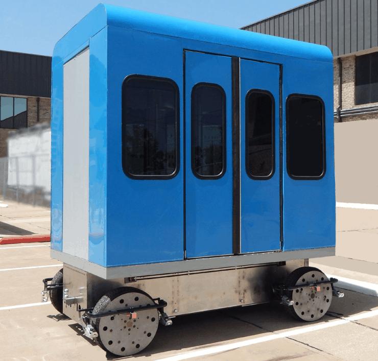 MicroWay Mass Transit Cabin on Chassis. MegaRail