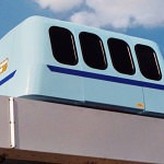 Roam Transport MicroWay Personal Rapid Transit Car on Elevated Guideway . MegaRail