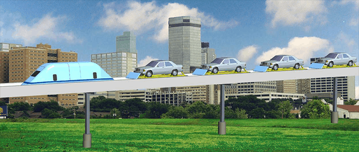SuperWay—New Type of Freeway in the Sky. MegaRail