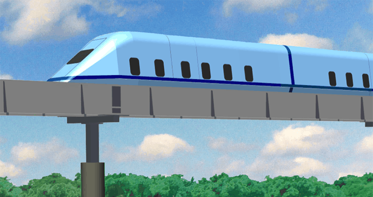 Roam's High-Speed Inter-City SuperWay Passenger Train Service. MegaRail