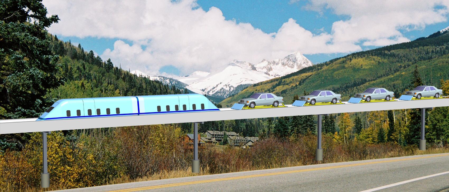 High speed CarLiner™ car-train service
