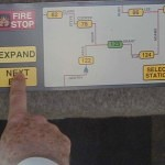 Roam Transport MicroWay control console—selecting next exit. MegaRail
