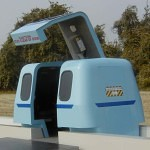 Roam Transport MicroWay car ready for loading—second view. MegaRail