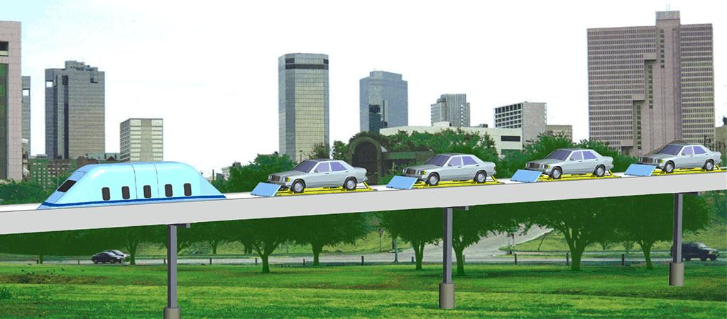 Future Urban Area Automobile Service. MegaRail