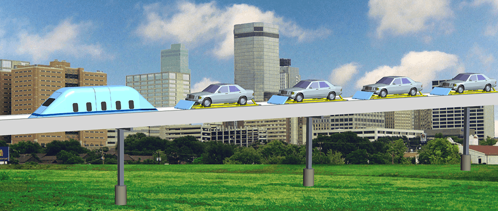 SuperWay—New Type of Freeway in the Sky. MegaRail.
