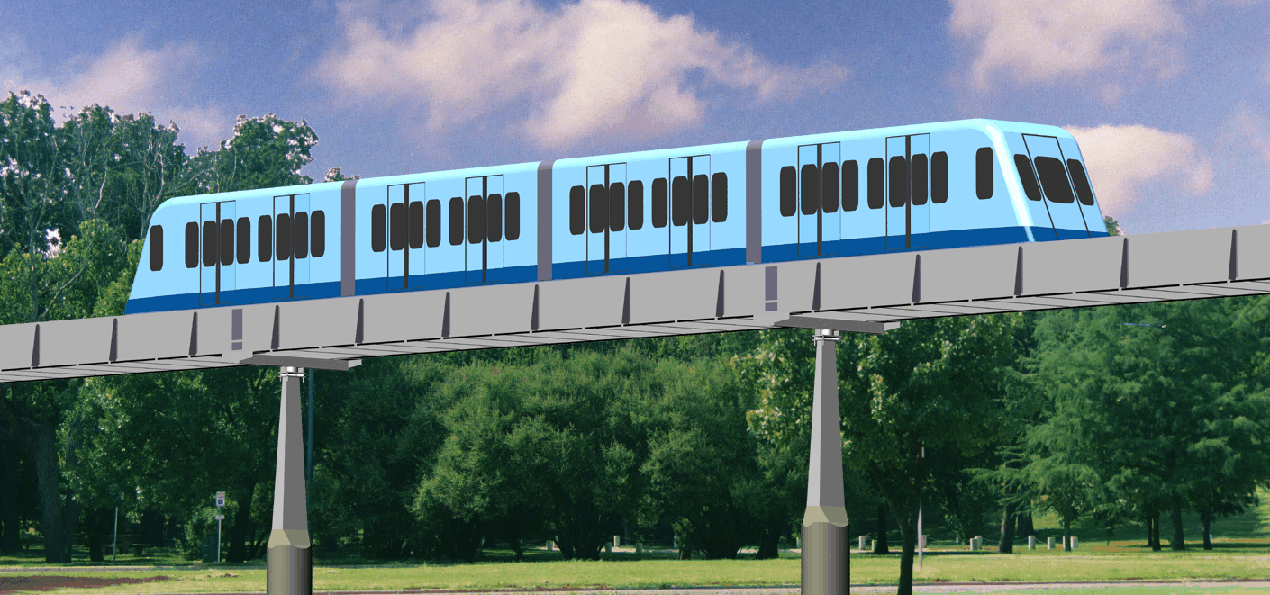 Roam's Lightweight MegaWay System—The Locally-Affordable Transit System. Megarail
