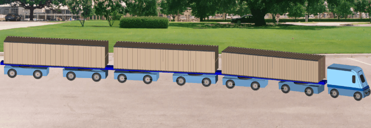 Roam's CargoTram™ Dual-Mode Systems Operate both on paved Surfaces and on Superway Guideways. MegaRail